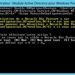 La corbeille Active Directory sous Windows Server 2008 R2/2012