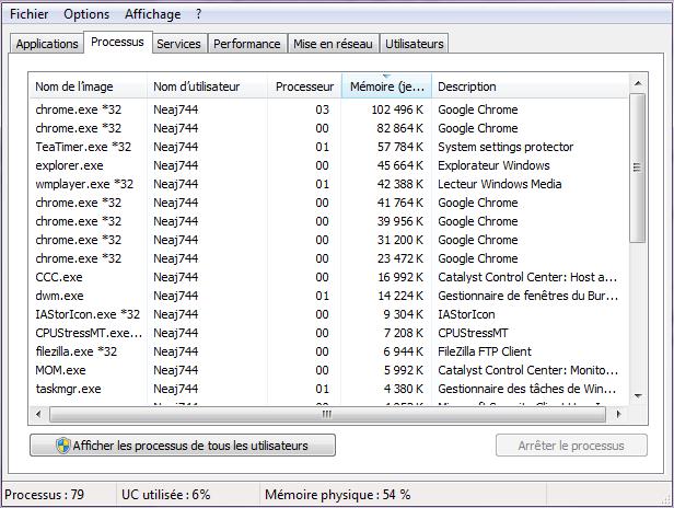 mémoire utilisation windows 8