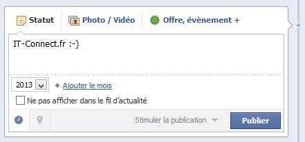 Planifier post Facebook