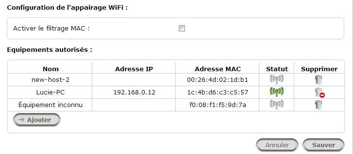 Appairage wifi