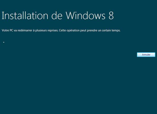 Installation de Windows 8