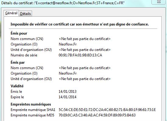 certificat monit