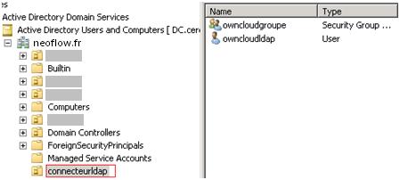 Connecteur LDAP pour ownCloud