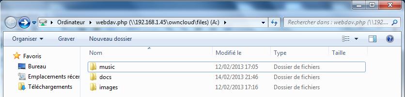 WebDAV ownCloud