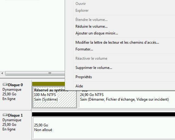 Raid logiciel sur la partition syst me de windows for Disque dur miroir