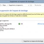 Supprimer un Espace de stockage sous Windows 8