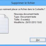 Activer la confirmation de suppression sous Windows 8