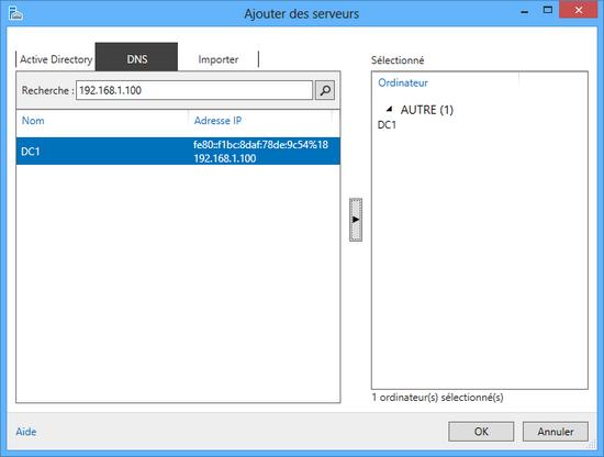 Ajouter un serveur dans Server Manager