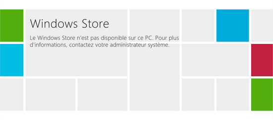 Windows Store désactivé