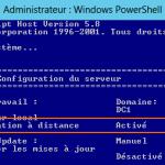 WS 2012 Core  – Activer la gestion à distance