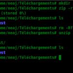 Les fichiers ZIP sous Linux