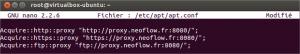 Définir un proxy pour apt sous Ubuntu/Debian
