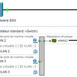 Créer des VLANs sur un vSwitch VMWare et routage inter-VLANs sur un routeur Cisco