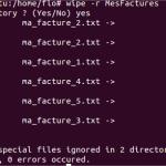 Wipe : Supprimer définitivement un dossier sous Ubuntu