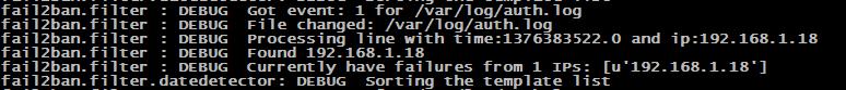 Logs mode DEBUG lors d'échec de connexions SSH