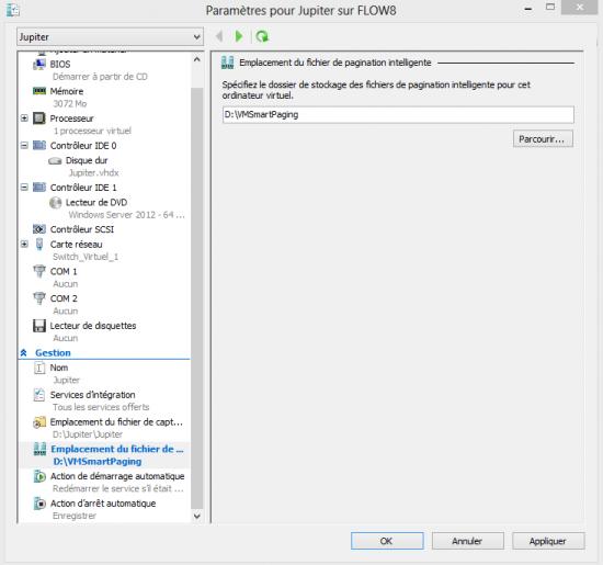 Configuration du smart paging dans Hyper-v