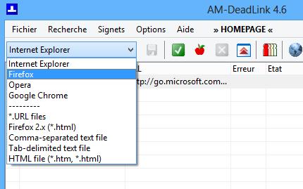 AM Deadlink choix navigateur
