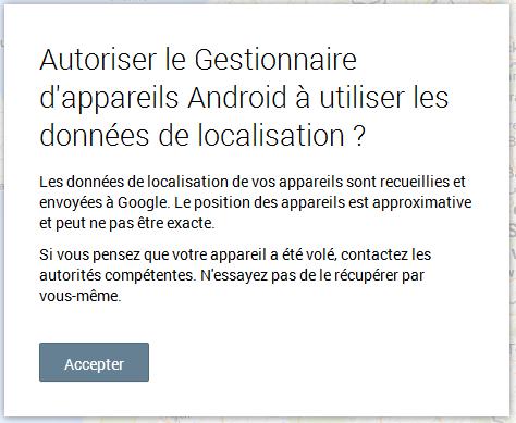 Autorisation Google