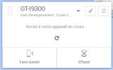 Gestionnaire d'appareil Android : Supprimer ses données à distance