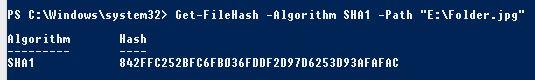get-filehash