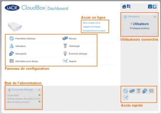 Lacie CloudBox Interface