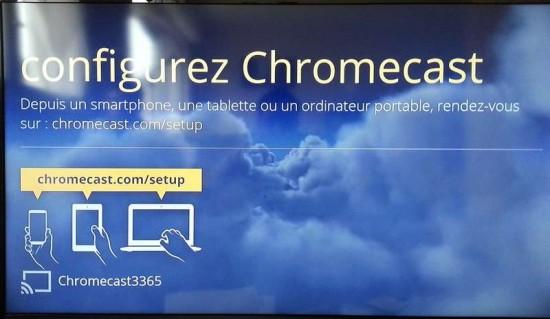 Premier affichage Chromecast