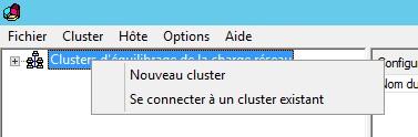 Nouveau cluster