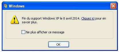 Support de Windows XP