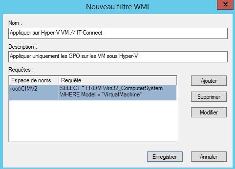 Filtre WMI VM