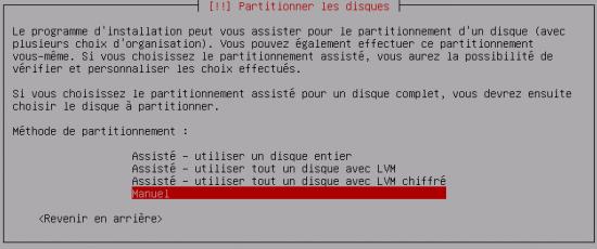 Debian - Mode manuel