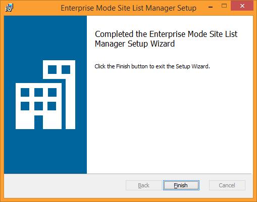 Enterprise Mode Site List Manager