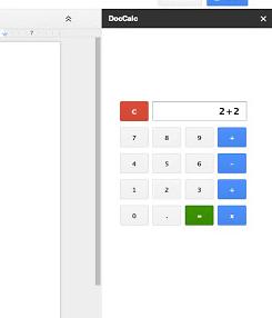 Plug-in Calculator pour Google Docs