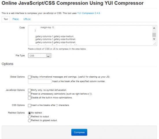 Minification code JS ou CSS