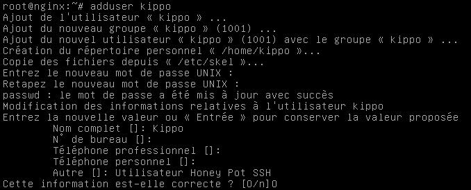 créer utilisateur linux