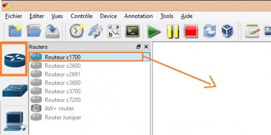 gns3 utilisation configuration