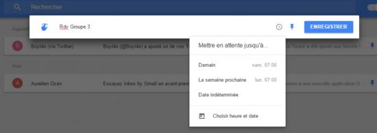 google inbox rappel