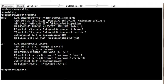 TermRecord enregistrer terminal