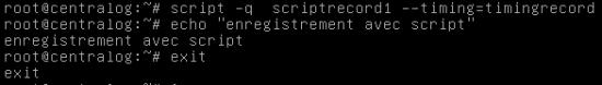 termrecord script enregistrer terminal