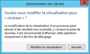 Modifier la virtualisation