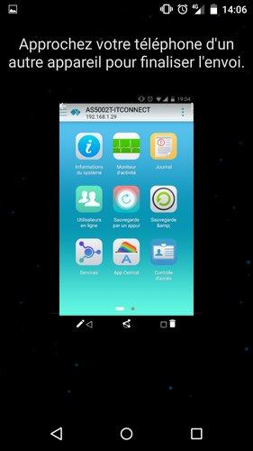 Android Beam en attente de l'appareil de destination...