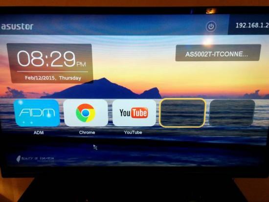 Asustor AS5002T - L'Asustor Portal sur une TV