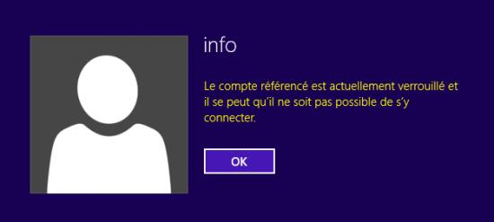 Windows - Compte verrouillé