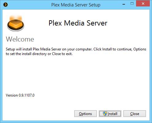 Installer Plex sous Windows