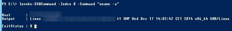 Exécuter une commande avec Posh-SSH