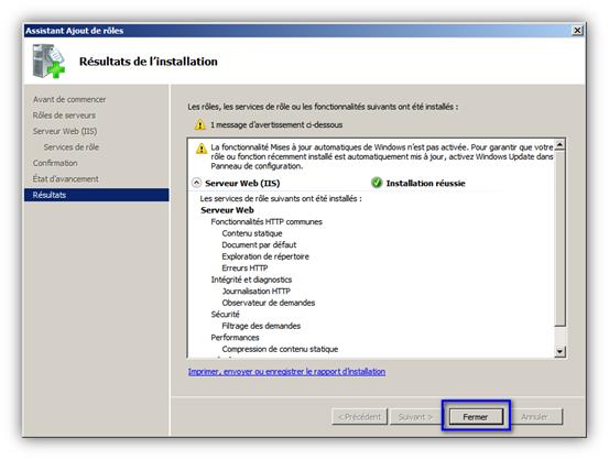installer com + windows server 2008