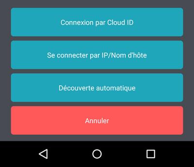 Connexion via Cloud ID depuis un smartphone Android