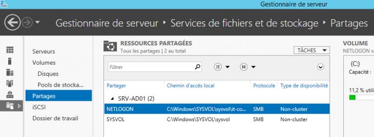 Services de fichiers