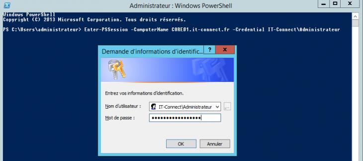 Ouvrir une session PowerShell à distance avec Enter-PSSession