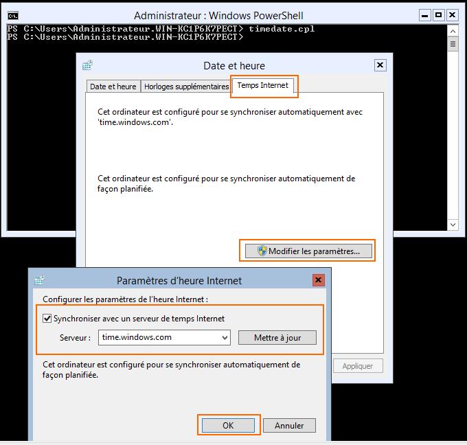 Synchroniser l'heure avec un serveur de temps (NTP)