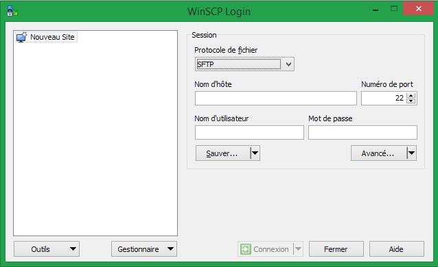 Transfert de fichier via ssh it connect for Fenetre de connexion